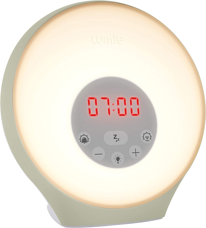 Lumie Sunrise Alarm Sunrise Wake Up Alarm Sunset Sleep Feature Sounds Mood Lighting Amazon Co Uk Health Personal Care