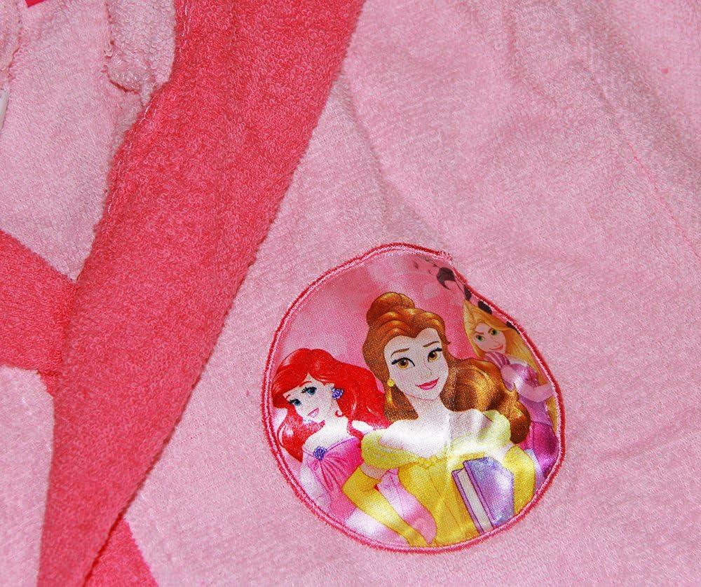 ans 2//3 Nouveau Peignoir avec capuche Original Disney Princesses ans 2/3/4/5/6/7/8/9/100/% micro /éponge pur coton b/éb/é fille