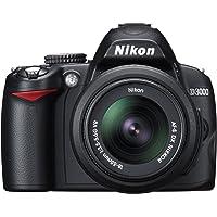 Nikon D3000 SLR-Digitalkamera (10 Megapixel) Kit inkl. 18-55mm 1:3,5-5,6G VR Objektiv (bildstab.)
