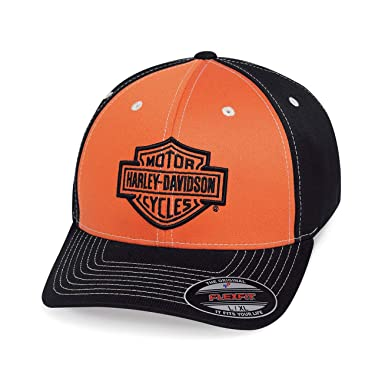 HARLEY-DAVIDSON® Mens Colorblock Stretch Cap - 99469-19VM: Amazon ...
