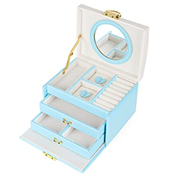 Amazoncom SONGMICS Jewelry Organizer with Bowknot Mirrored Storage