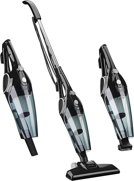 Homasy V4-Aspiradoras Hogar Escoba 2 en 1, 800ml, 12Kpa, con 2 Filtros HEPA Lavables y 3 Cepillos, Vertical y de Mano sin Bolsa, con Protección Inteligente [Clase de eficiencia energética A]: Amazon.es: Hogar