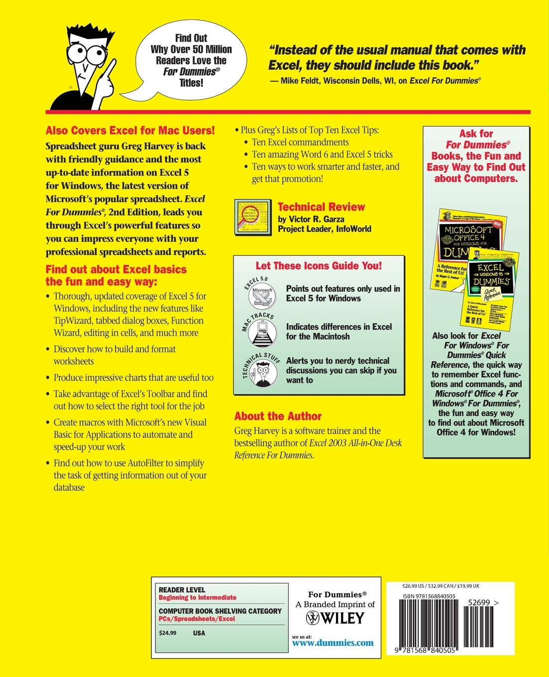 Buy Excel For Dummies (For Dummies Computer Book Series