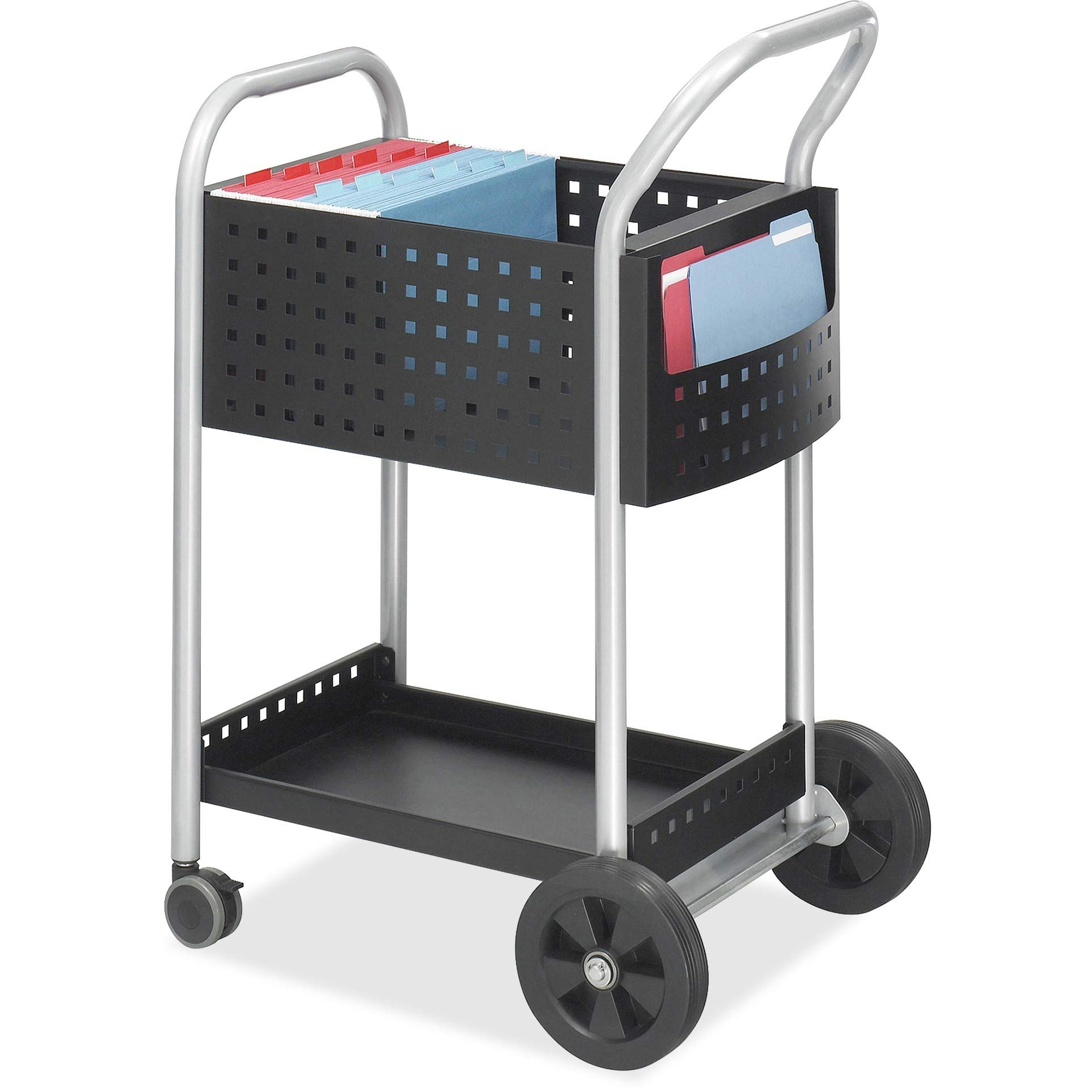 Scoot Mail Cart, 1 / Each, Black,Silver by Aromzen