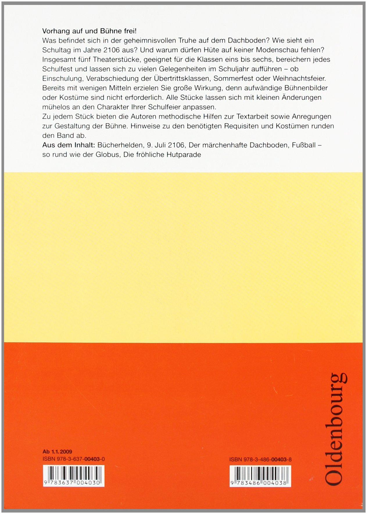 Oldenbourg Kopiervorlagen: Theaterstücke für Schulfeste: Band 120 ...