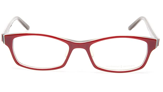 8b904c6130 Amazon.com  NEW PRODESIGN DENMARK 1700-1 c.4022 RED EYEGLASSES FRAME ...