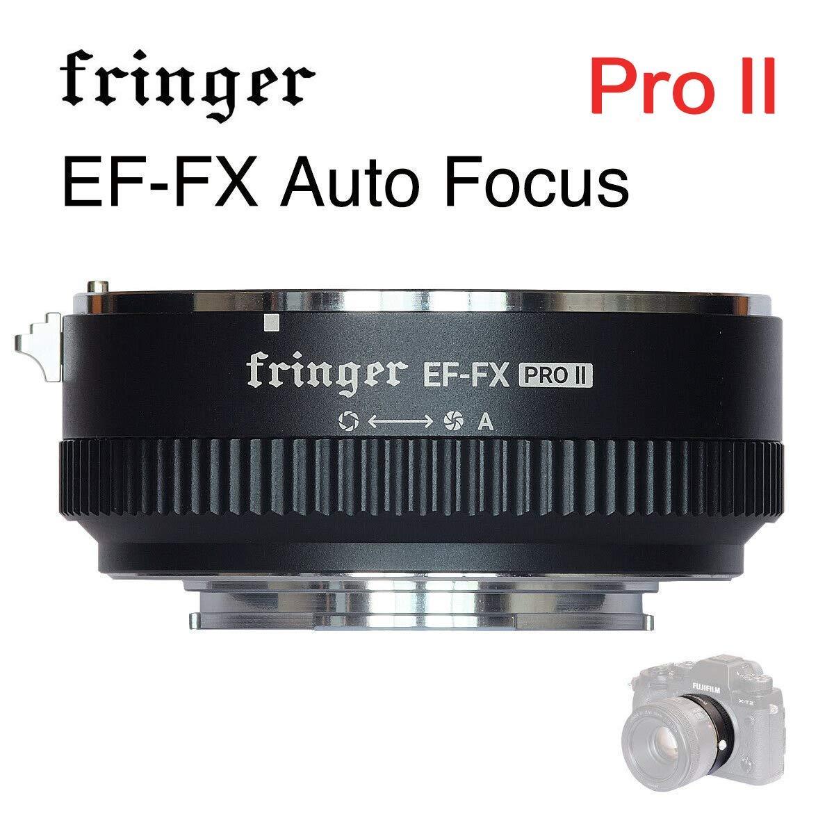 Fringer EF-FX PROバージョン オートフォーカスマウントアダプター 内蔵電子絞り器 Canon EF EOSレンズからFujifilm FX Mirroless Camera X-E3 XT20 X-Pro2 X-T2 X-A X-E1 X-M1 XT1 XPRO2用   B07K76R832
