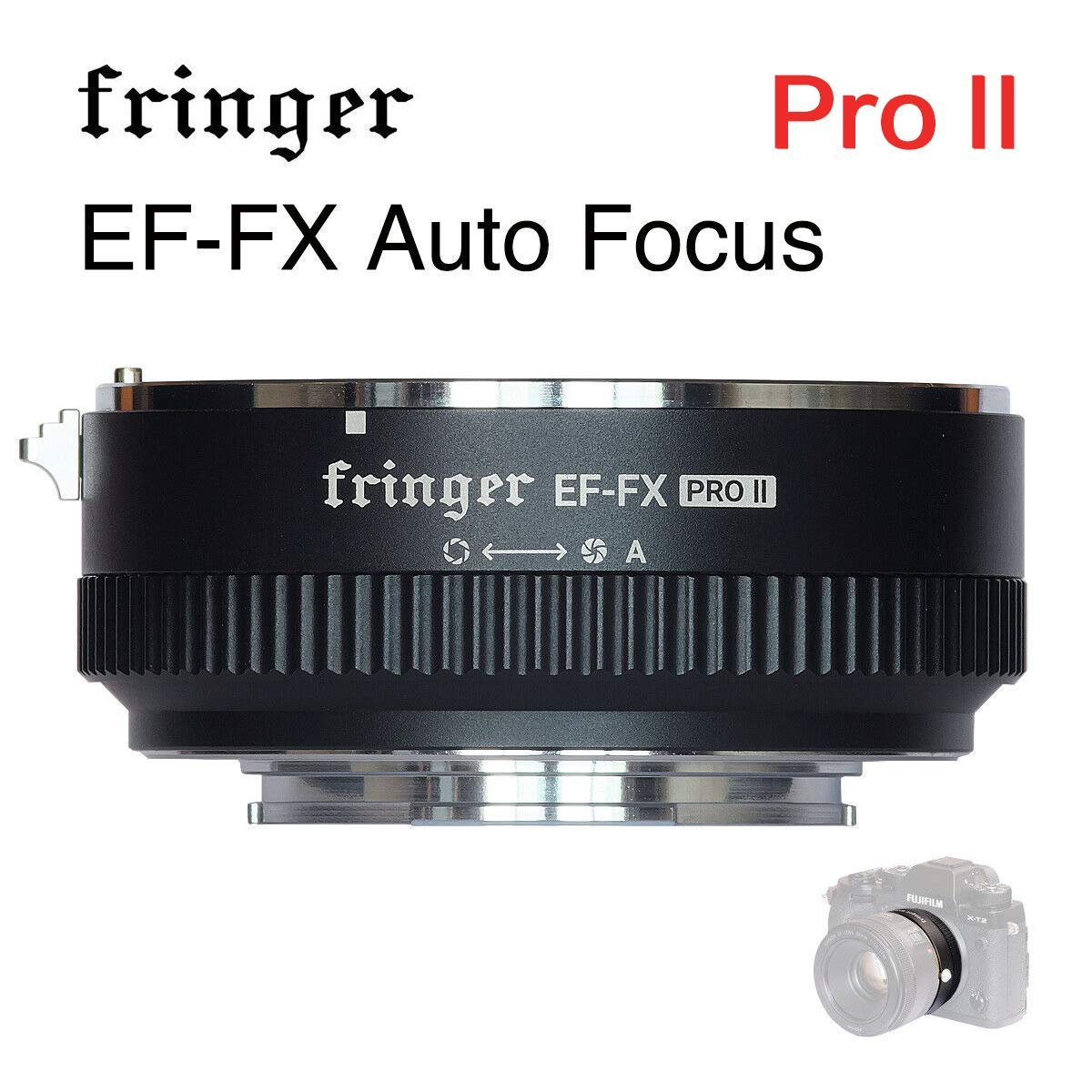 New Version Fringer EF-FX Pro II Auto Focus Mount Adapter Built-in Electronic Aperture for Canon EF EOS Lens to Fujifilm FX Mirroless Camera X-E3 XT20 X-Pro2 X-T2 X-A X-E1 X-M1 XT1 XPRO2 by Fringer