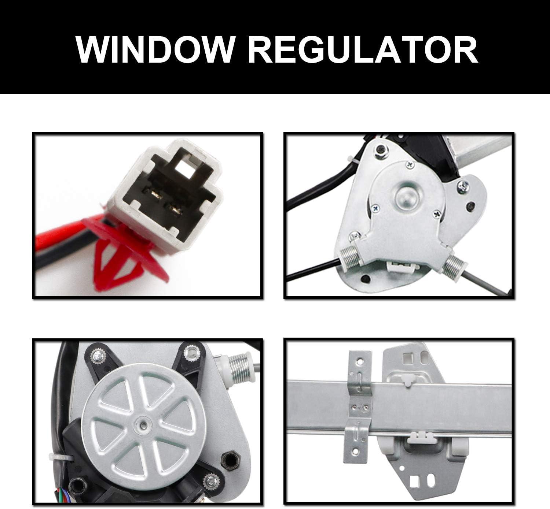 Youxmoto Rear Left Driver Side Power Window Regulator with Motor Assembly for 2003-2008 Honda Pilot 748-512 72750S9VA01 72750S9VA02 212-0051 384972 88534 WPR1028LMB