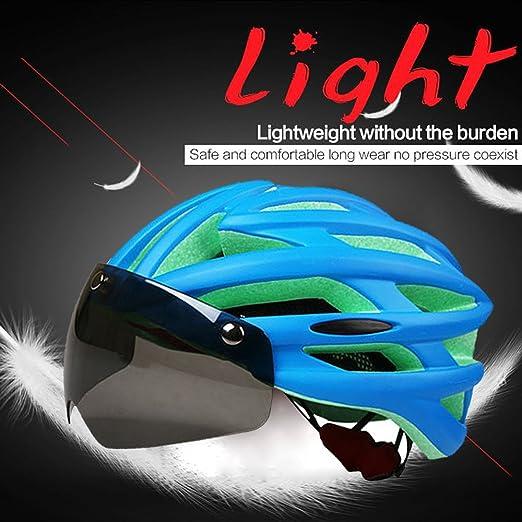 Casco de ciclismo magnético Casco de seguridad Ciclismo de carretera ajustable Ciclismo de montaña Casco de bicicleta con gafas Protección UV Lente Advanced ...