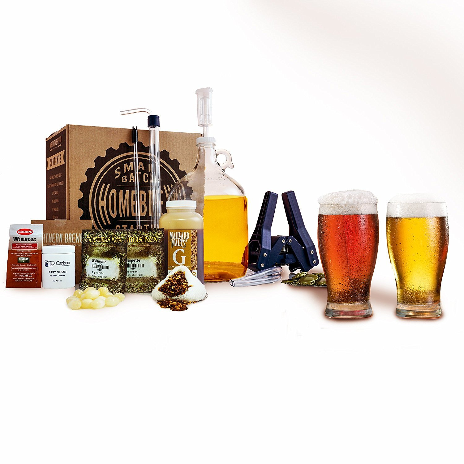 Northern Brewer Plinian Legacy Double IPA Beer Recipe Kit - Small Batch HomeBrewing Beer Brewing Starter Kit - Fermentation Jug Equipment For Making 1 Gallon Of Homemade Brew