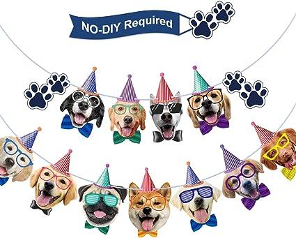 Amazon.com: Guirnalda de cumpleaños para perro, diseño de ...