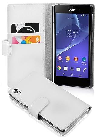 Cadorabo Carcasa para Sony Xperia Z2 Funda en Funda con tarjetero de struktri ertem piel sintética Case Cover Carcasa Funda Book Style Magnesio Color ...