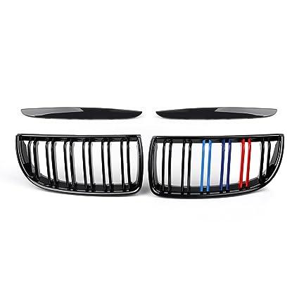 areyourshop parachoques delantero riñón Rail de doble rejilla para BMW E90 Sedán y Wagon 320i, 05 – 08 Mcolor