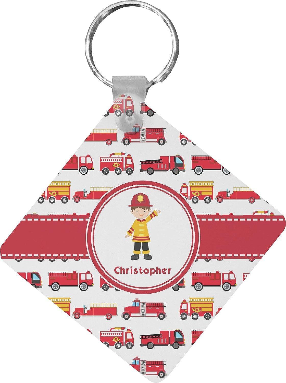 Firetrucks Diamond Key Chain (Personalized)