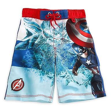 """b0f0c2242 Disney Store Captain America Civil War """"Star man"""" Swim Trunks for  Boys,"""