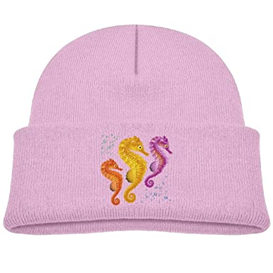 f3fbf4212 Colorful Seahorse Personalized Hedging Hat Beanie Hat Warm Winter ...