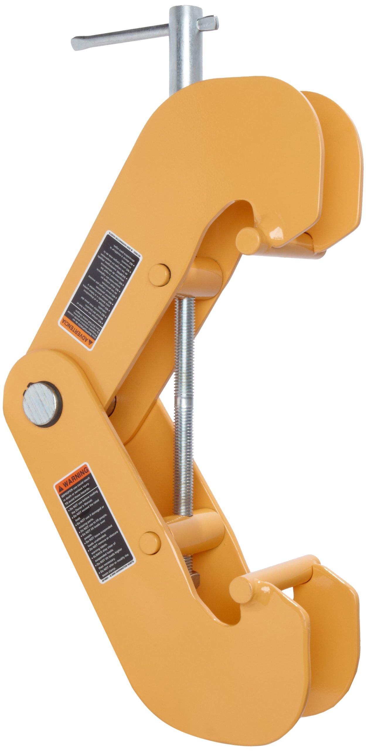 Harrington UBC030 UBC Universal Beam Clamp, 4'' - 12'' Holding Size, 1'' Maximum Beam Flange Thick, 3 ton Capacity