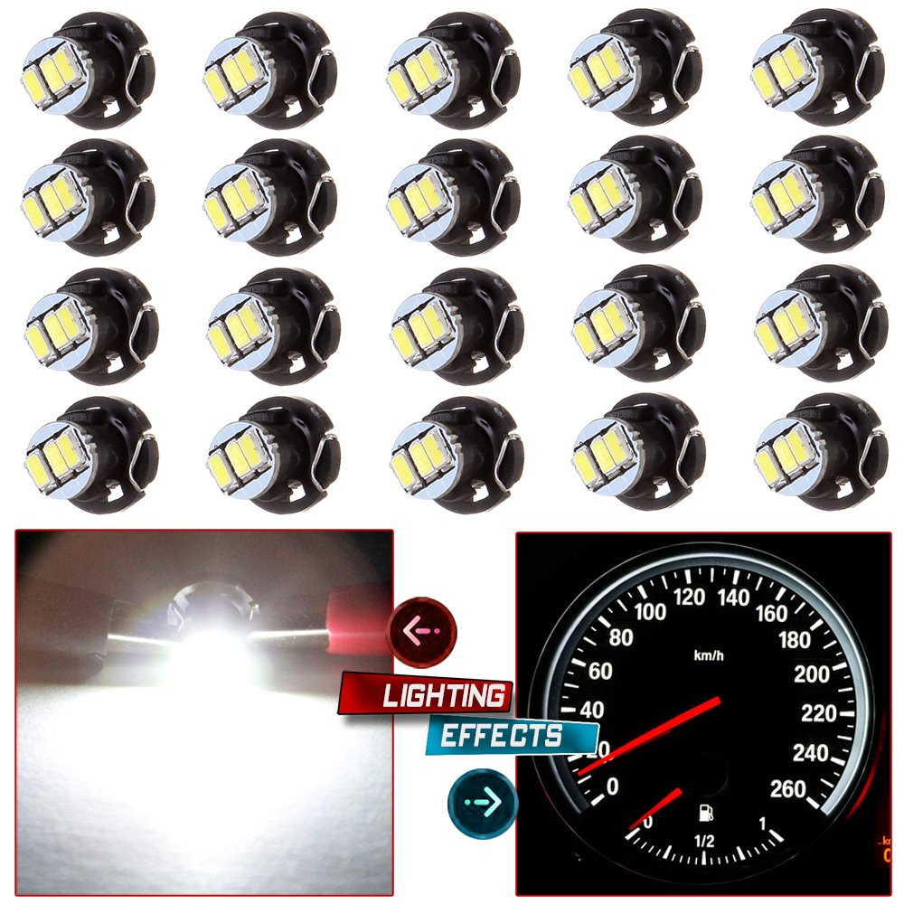 cciyu 20 Pack White T4//T4.2 Neo Wedge 3LED A//C Climate Control Light Indicator Bulbs 990539-5210-0939103