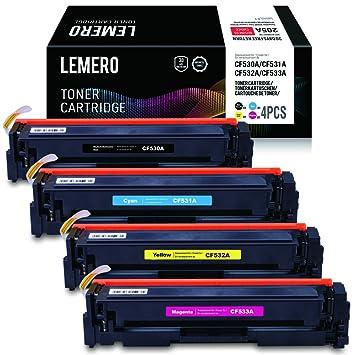 LEMERO Compatible 205A Multipack CF530A CF531A CF532A CF533A ...