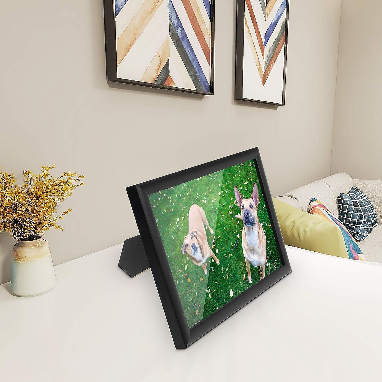 Yorbay Cornice Foto da Parete e da Tavolo Cornici in Legno con Plexiglass Nero 10x15 cm // 6 Pollici