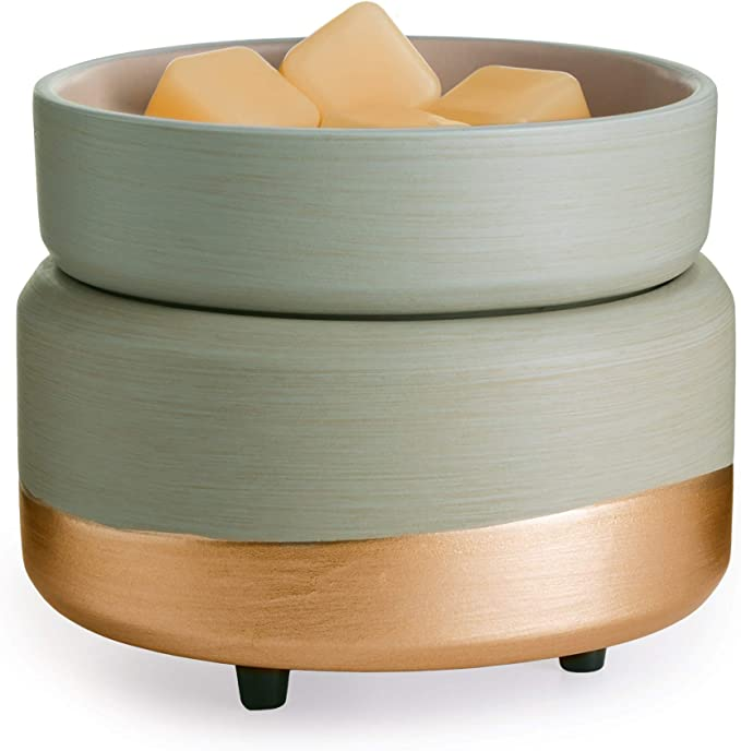 CANDLE WARMERS ETC, Midas 2-in-1 Fragrance Warmer for Warming Scented Candles or Wax Melts and Tarts with to Freshen Room