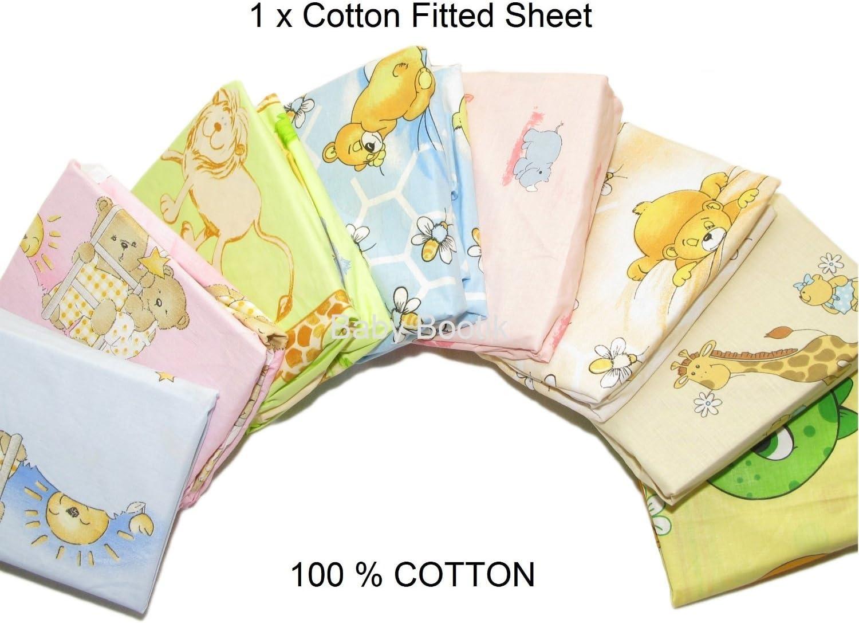90/x 40/cm varios dise/ños dise/ño 17 Talla:Fits Cot 120x60 cm Baby Comfort S/ábanas de algod/ón para cunas