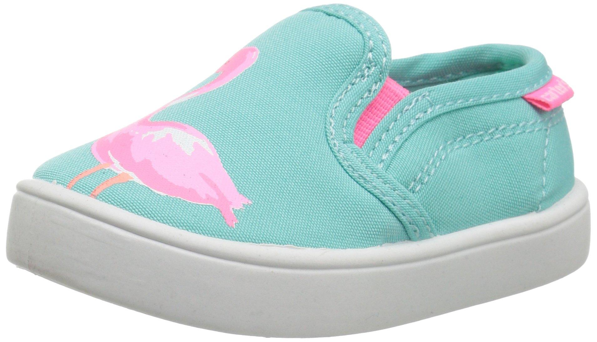 Carter's Tween Girl's Novelty Slip-On, Turquoise/Pink, 10 M US Toddler