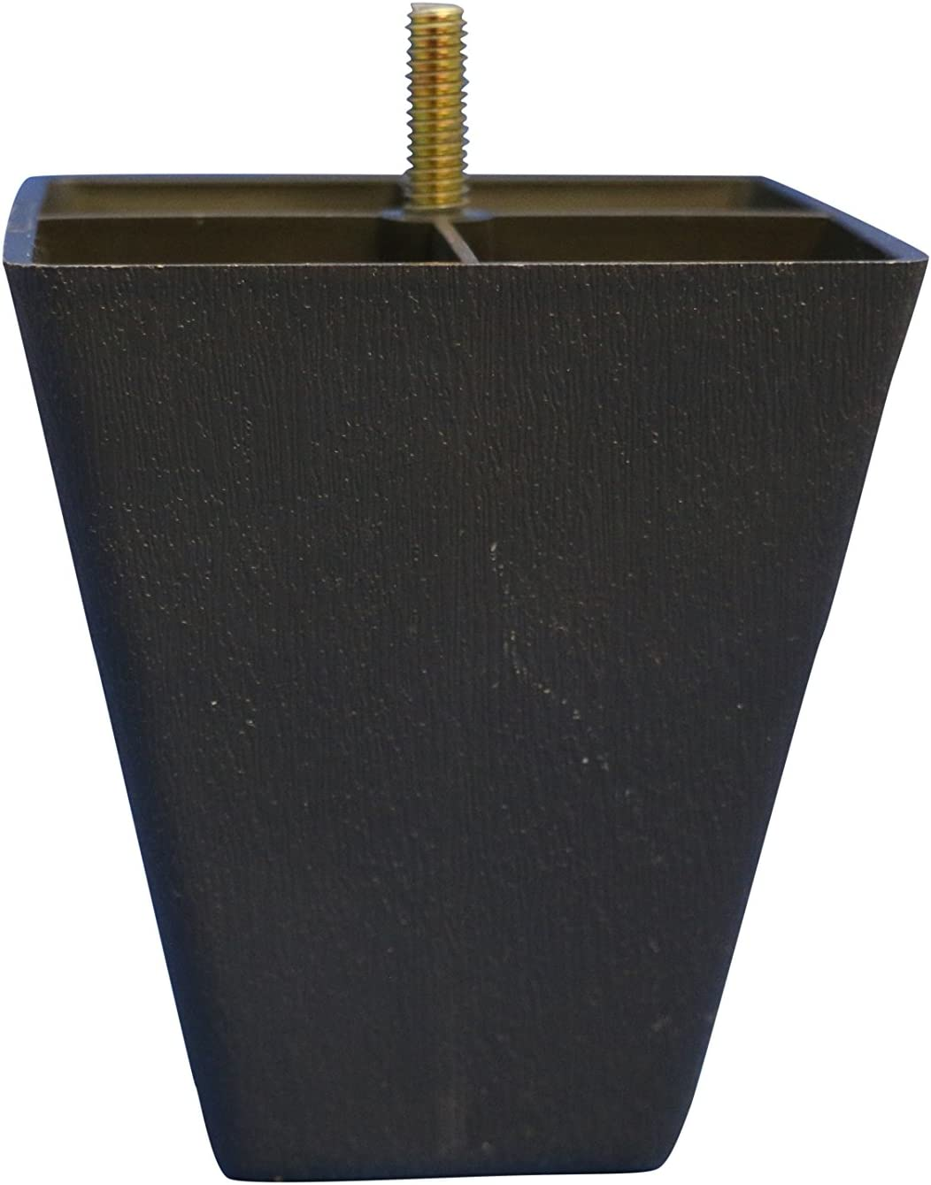 Dark Brown Plastic Square 4.5 Inch Leg for Sofas and Recliners, Set of 4