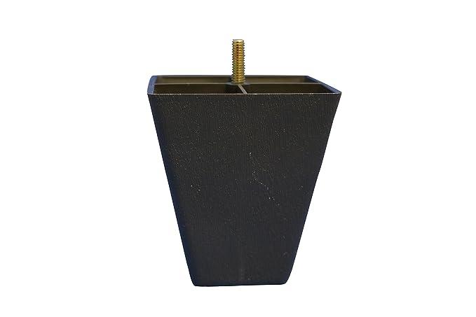 Amazon.com: café oscuro cuadrada De plástico 4.5 inch pierna ...