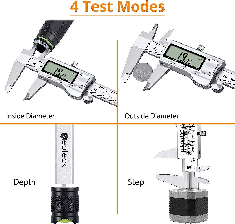 0-25mm Micr/ómetro Exterior Conjunto Calibrador Vernier Calibrador Llave Medici/ón
