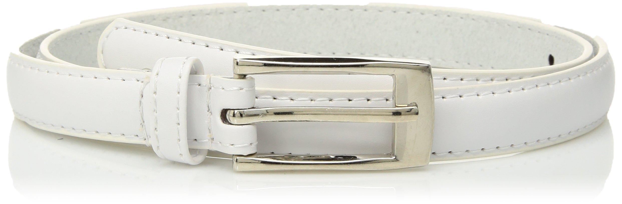 Solid Color Leather Adjustable Skinny Belt
