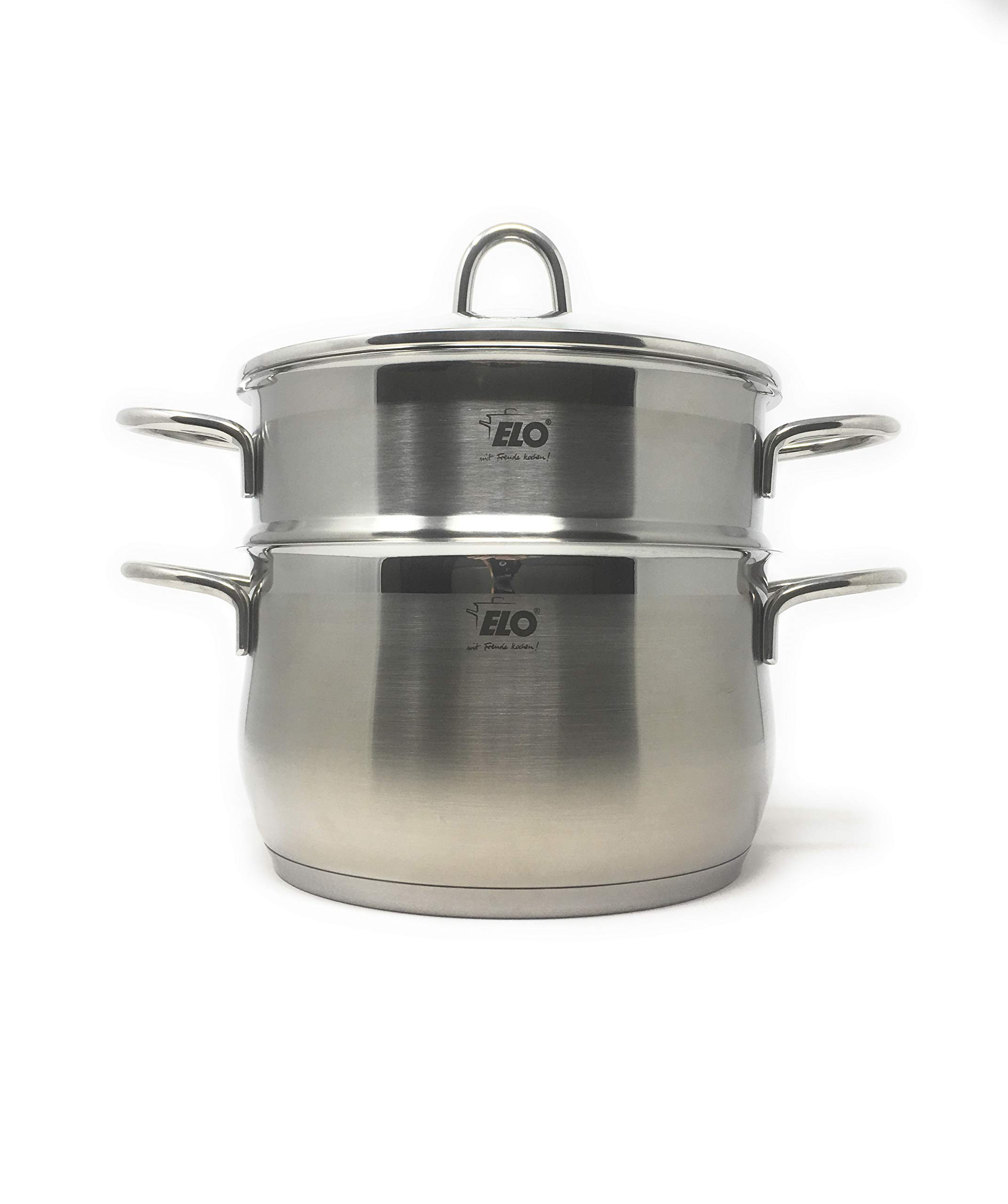 ELO Germany Platin Stainless Steel Induction 3 Piece Steamer Set