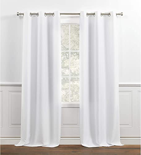 Chaps Lise Solid Textured Linen Look Grommet Top Curtain Panel