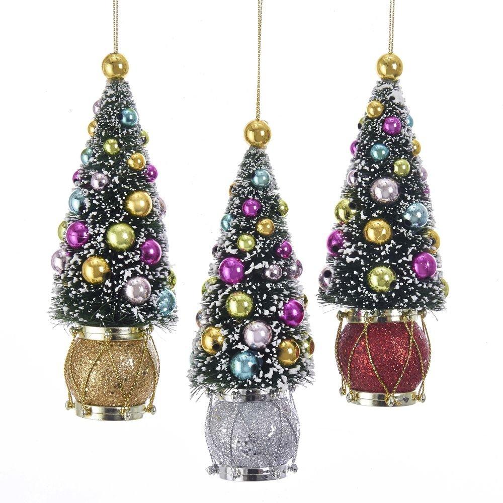 Kurt Adler 6 Sisal Tree W Ball Drum Ornament 3 A