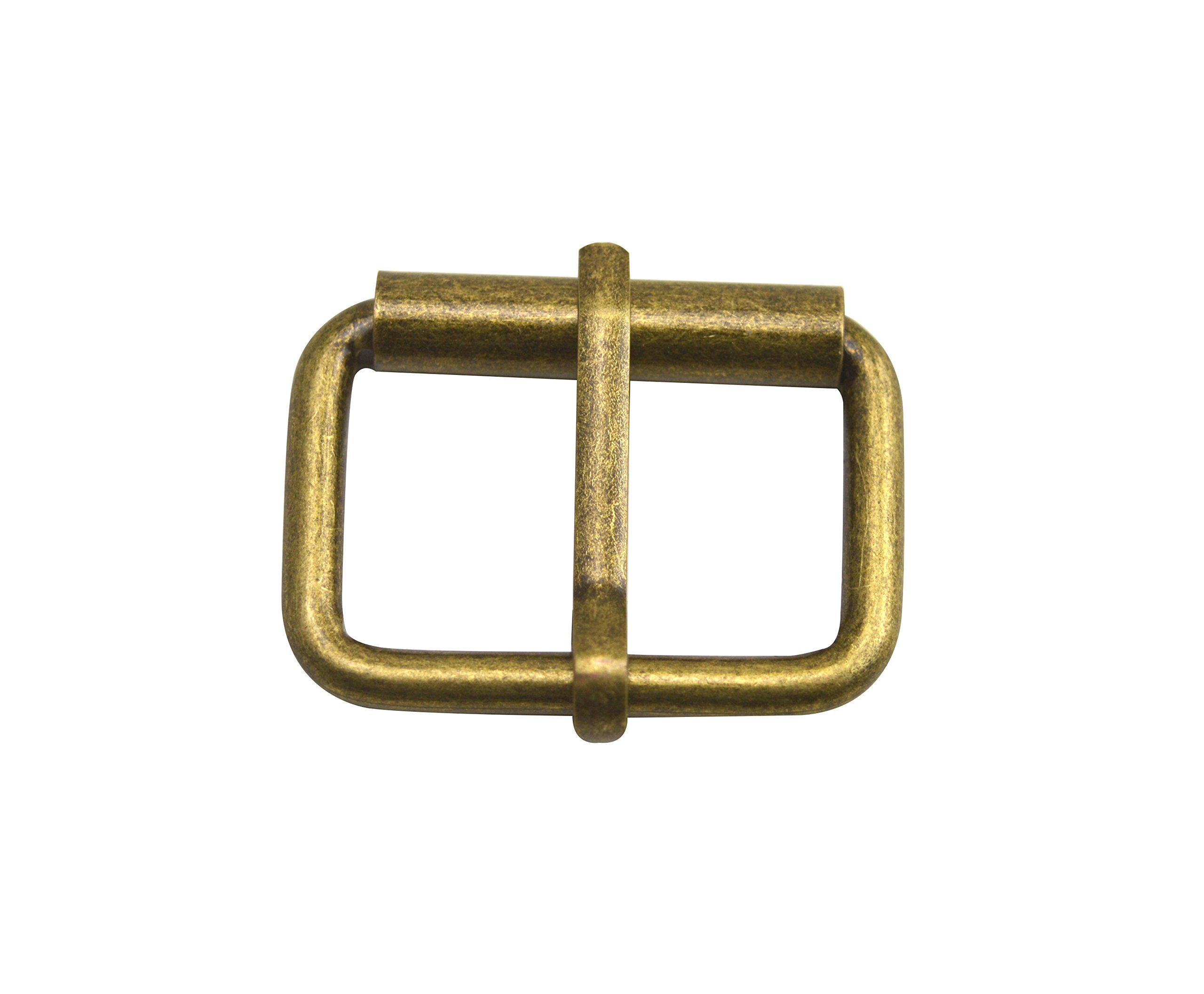 Wuuycoky Single Prong 1.25''X0.8'' Internal Size Bronze Roller Buckle for Belt Strap Pack of 20