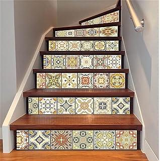 LTu0026DM Treppenaufkleber 3D Renoviert DIY Bodenabziehbilder Arabischer Stil  Herausnehmbar Wasserdicht Selbstklebend Kreativ Wandtattoo (1 Satz