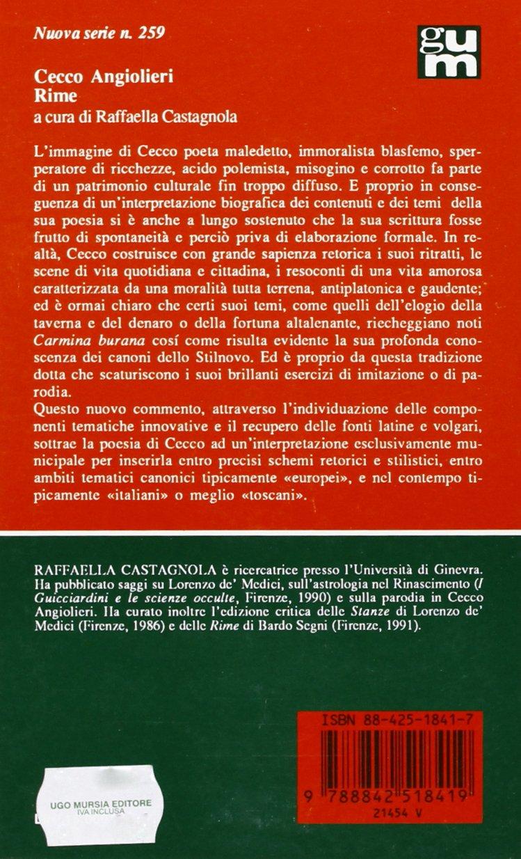 CECCO ANGIOLIERI RIME PDF DOWNLOAD
