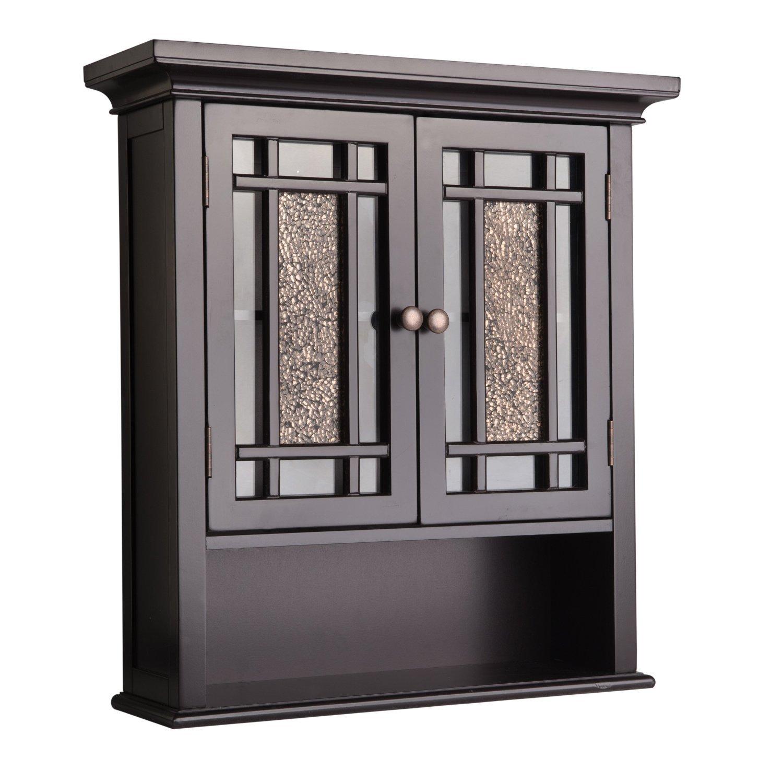 Gracelove Bathroom Wall Mount Over Medicine Cabinet 2-Door Toilet Storage Shelf (Size 2, Espresso)