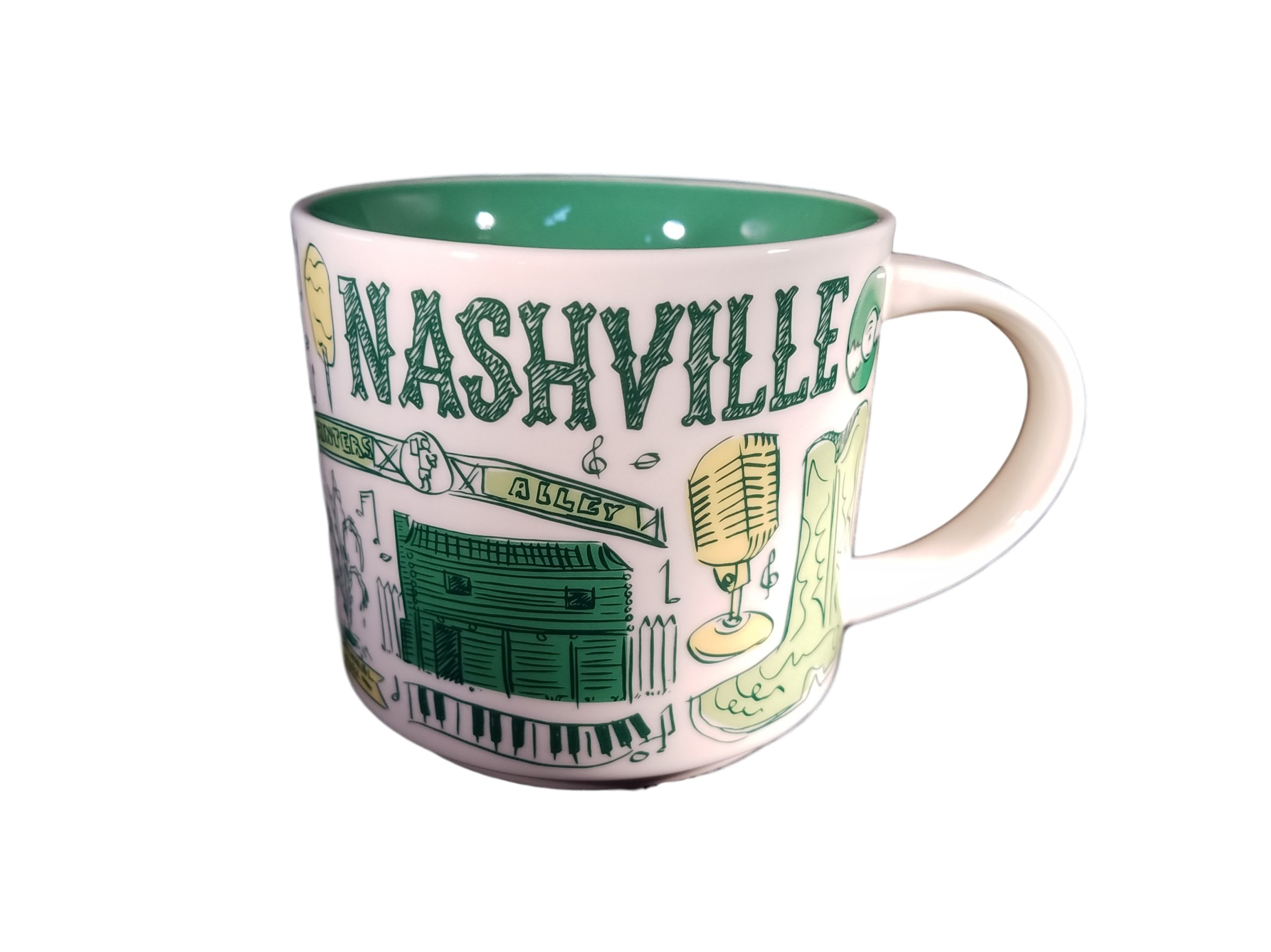 Starbucks Nashville Been There Series Ceramic Coffee Mug, 14 oz