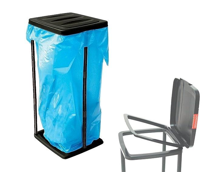 Soporte para bolsas de basura de 60 a 120 litros, con tapa – Soporte para bolsas de basura de clasificación, para material reciclable, para bolsas ...