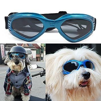 Zongsi Gafas para perros Gafas de sol de perro de mascota de moda Gafas de sol UV de protección impermeable para perros
