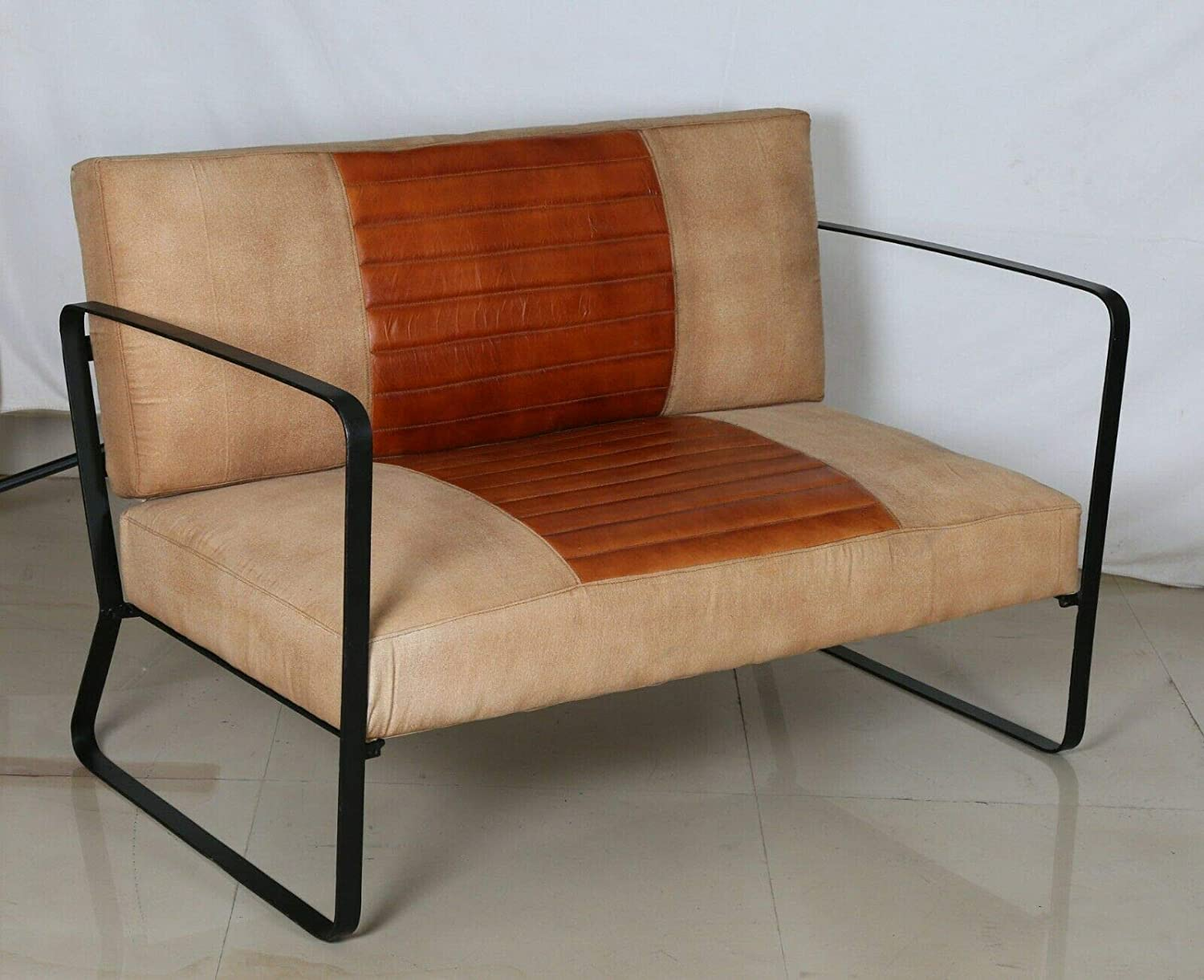 Amazon.com: Ms Exim Craft Office Sofa Leather 46 seater: Handmade