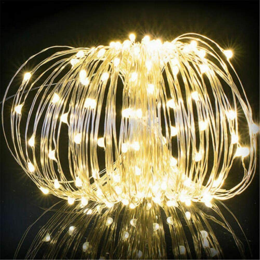 Hochzeit Feier Weihnachtsbeleuchtung LED Lichtschlauch LED Schlauch Lichterkette Au/ßen Outdoor Solar Lichterketten Wasserdicht 10M 100 LED Kupferdraht Lichterkette Ideal F/ür Aussen Party Deko