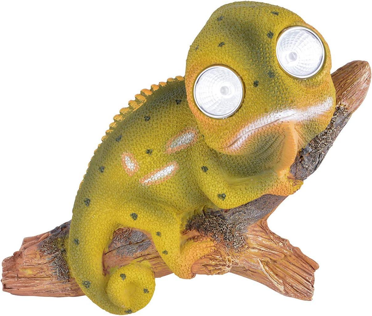 RM S de Commerce Solar Ojos Led Animales Camaleón como Figura de jardín con iluminación Solar