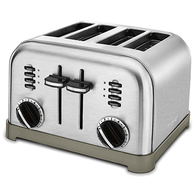 Cuisinart CPT-180 Metal Classic 4-Slice toaster, Brushed Stainless best toasters