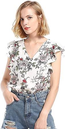 Mujer Camisas Verano Elegante Sin Mangas Chiffon Blusas ...