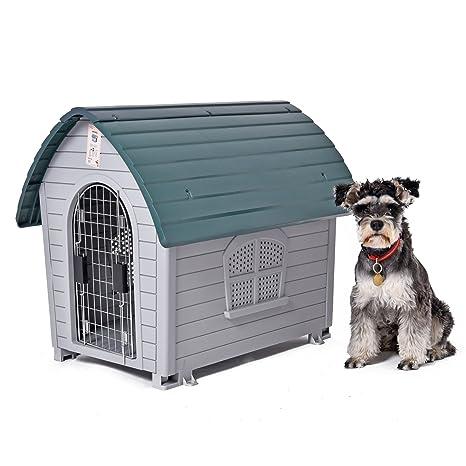 Speedy Pet - Caseta de perro para uso exterior e interior, de plástico