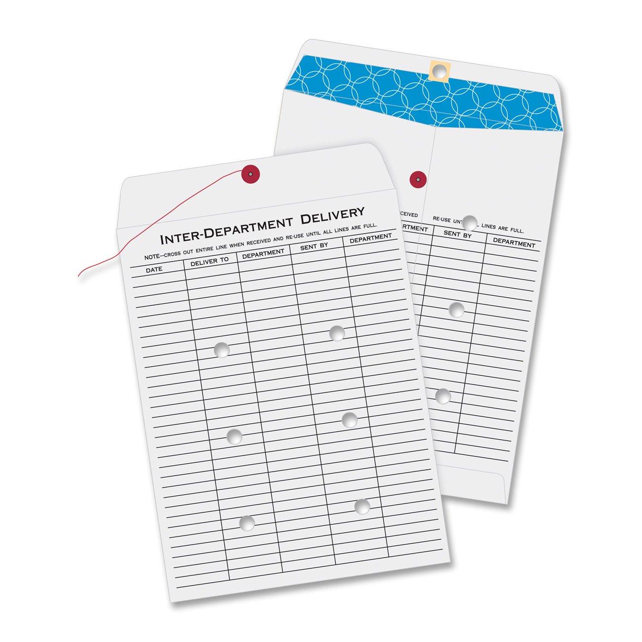 Quality Park Inter-Deptartment Envelopes,100 Envelopes, 10 x 13 Inches, White (63663)