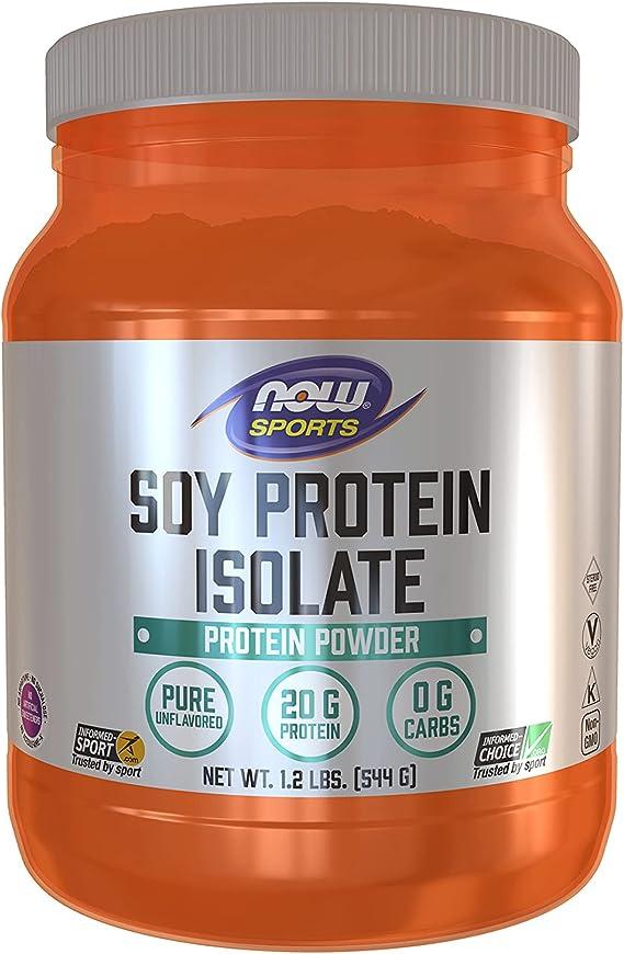 Now Foods Aislado de proteína de soja, sin sabor - 544G 680 g ...